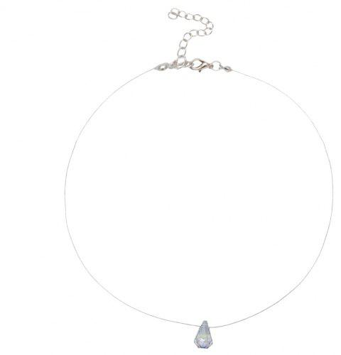 New Multi-cut Crystal Necklace - TRANSPARENT