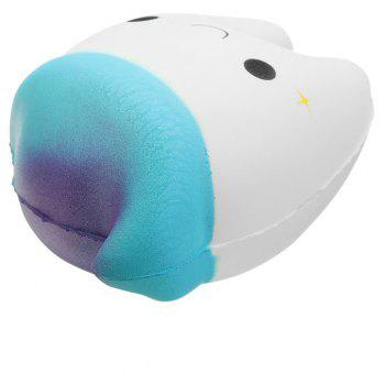 Dents mignonnes créatives Jumbo Squishy Slow Rising Toy - Blanc