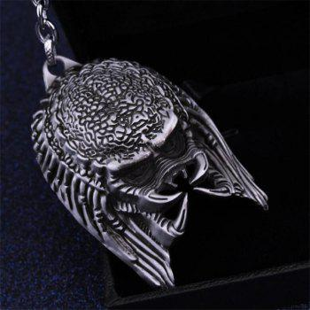 European and American Personality Creative Alien Warrior Mask Keychain - SILVER