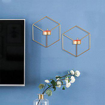 3D Geometric Candlestick Metal Wall Candle Holder for Home Decorations Weddings - GOLD