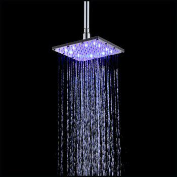 8 inch 20CM SS304 Hydraulic Temperature Sensor Led Shower Head 3 Colors Changing - multicolor TEMPERATURE SENSOR BLUE-PINK-RED