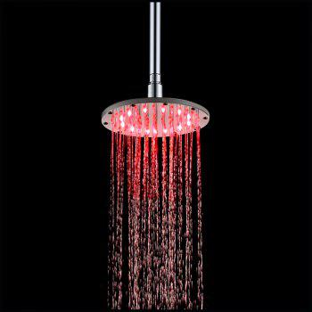 200MM Round Temperature(Blue-Pink-Red) Color Changing Bathroom LED SS304 Shower - multicolor TEMPERATURE SENSOR (BLUE-PINK-RED)