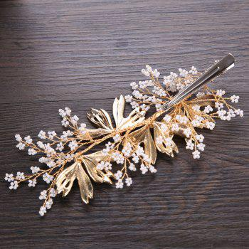 Bride Accessory Alloy Auger Hair Clip - GOLDEN BROWN 6 X 13.5CM