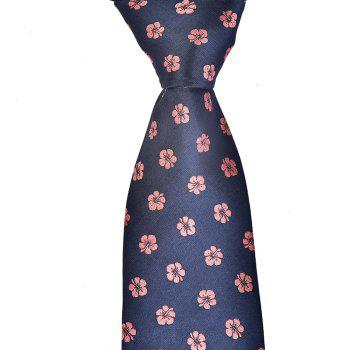 Mode Hommes Cravate Fine Fleur Casual Business Tie - Cadetblue
