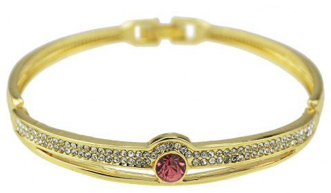 Style ouvert or couleur strass ouvert bracelet - Or