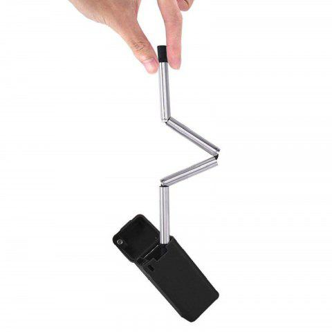 Collapsible Reusable Straw Stainless Portable Travel Final Outdoor Household - BLACK
