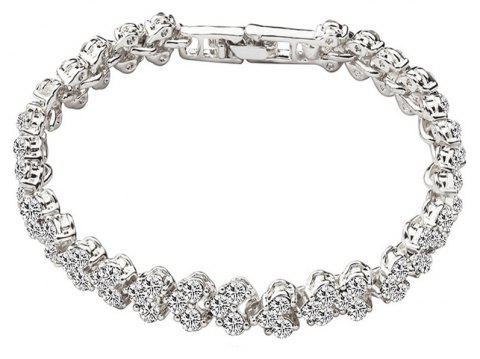 Simple Luxurious Crystal Zircon Bracelet - SILVER