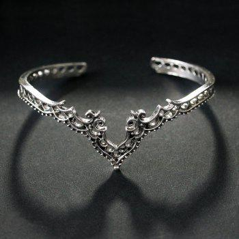 Fashionable Exaggerated Hollow-Out Bracelet - SILVER