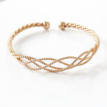 Ladies Fashion Open Knotted Hollowed-Out Twist Chain Bracelet - GOLD