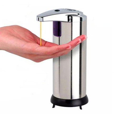 Stainless Infrared Automatic Sensor Hand Sanitizer Soap Dispenser - SILVER