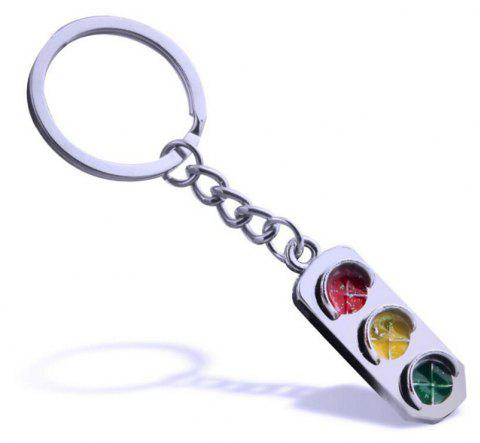 Personality Creative Traffic Light Car Key Chain - multicolor
