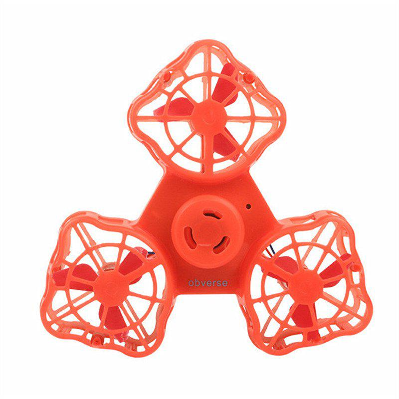 Rotary Flying Gyro  Anti-stress Finger Spinner Gift Toys for Children - RED