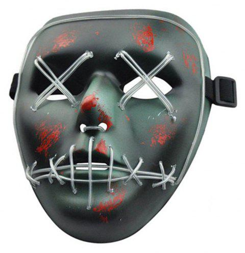 Halloween Mask LED Glow Scary Wire Light Up Grin Festival Parties - multicolor B