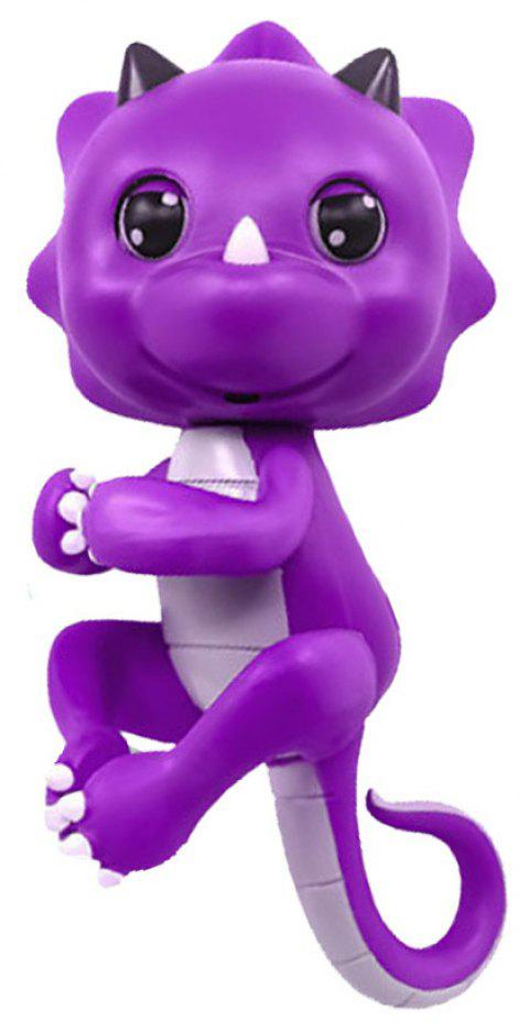 Cute Baby Dinosaur Style Finger Playing Electric Pet Kid Toy - LOVELY PURPLE