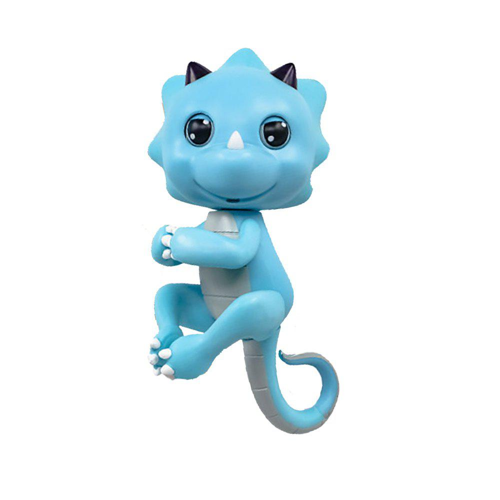 Cute Baby Dinosaur Style Finger Playing Electric Pet Kid Toy - ELECTRIC BLUE