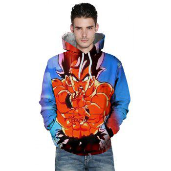 2108 Autumn Winter New Casual 3D Printed Sweatshirt - multicolor XL