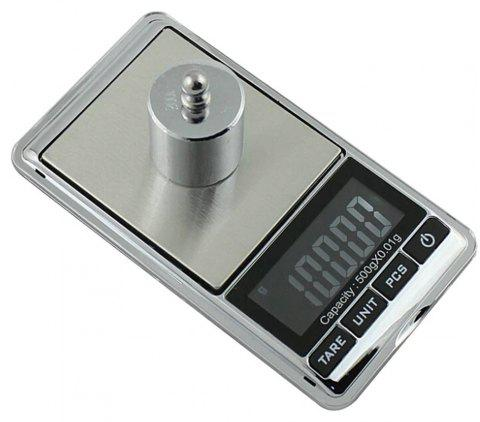 500g/0.01g Electronic Scale Precision Portable Pocket LCD Digital - TRANSPARENT