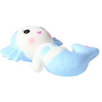 Creative Jumbo Squishy Mermaid Toy Scented Bread Cake Super Soft Slow Rising - LIGHT BLUE