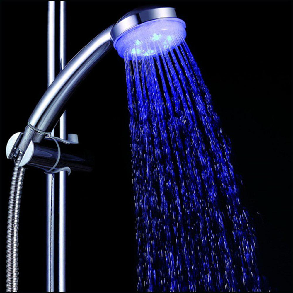 7 Color Fading Lighting Handing Shower Head for Bathroom - multicolor 7 COLORS FADING TYPE