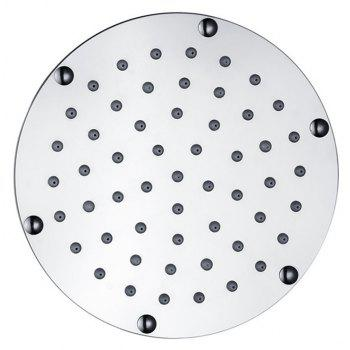 Water Power 6 inch Stainless Steel Round Rain Shower Head with 3 Colors - multicolor TEMPERATURE SENSOR BLUE-GREEN-RED
