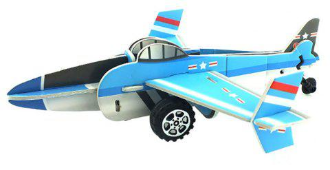DIY Children Stereo Simulation Aircraft Model Puzzle - multicolor