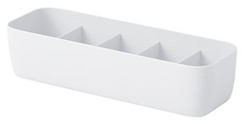 DIHE Long 5 Barssimple Cabinet Socks Separate Storage Box - WHITE