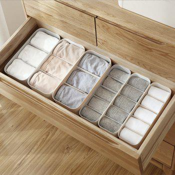 DIHE Wide Strip Simple Cabinet Socks Separate Storage Box - APRICOT