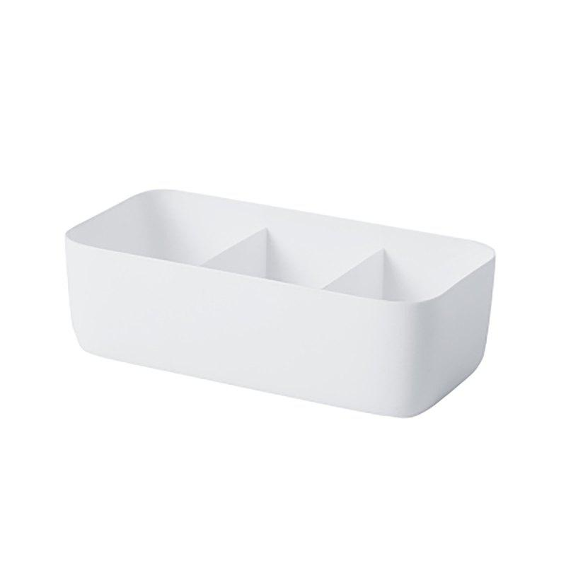 DIHE Wide Strip Simple Cabinet Socks Separate Storage Box - WHITE