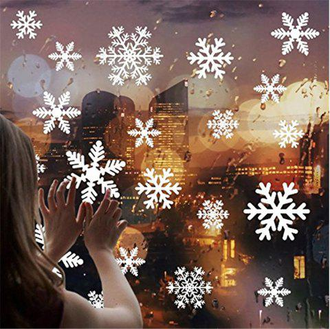 Snowflake Sticker Ornament for Christmas Holiday Home Decor Winter Party - WHITE