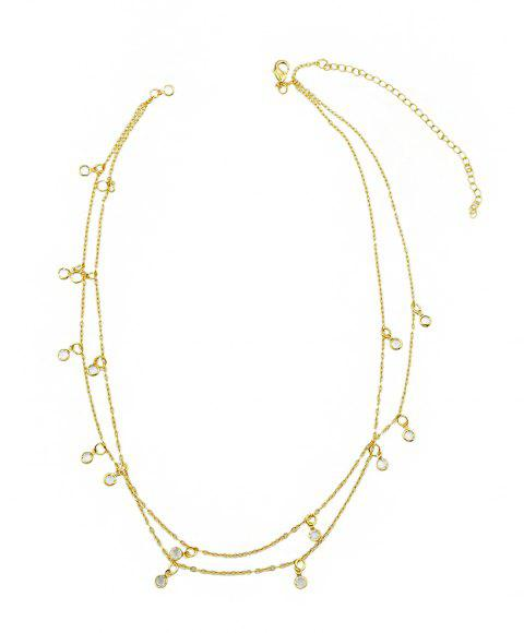 Beach Style Gold Silver Color Bead Chain Waist Jewelry - GOLD