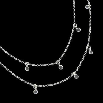 Beach Style Gold Silver Color Bead Chain Waist Jewelry - SILVER