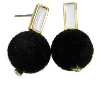 Lovely Black Bobbles Earrings for Women - BLACK