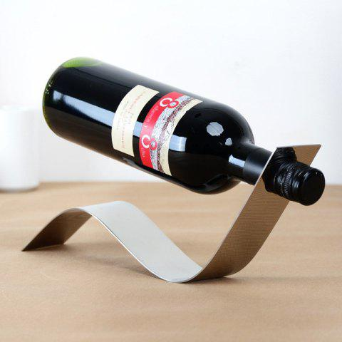 Creative Suspended Stainless Steel Wine Rack Holder Kitchen Bar Accessories - COOL WHITE