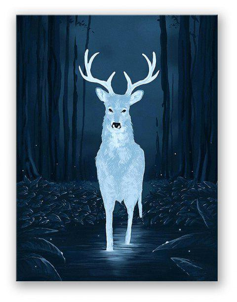 W389 Deer Unfravas Print for Home Decoration - multicolor 38CM X 50CM