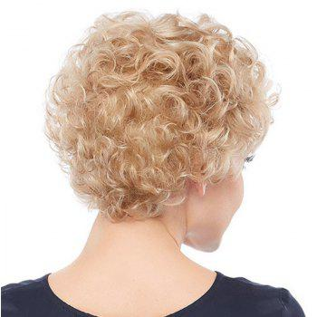 Light Golden Small Wave Afros Wig - GOLD 14INCH