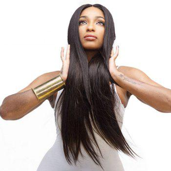 Natural Black Part in The Middle Straight Long Wig - NATURAL BLACK 28INCH