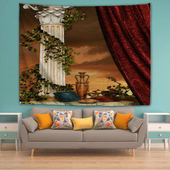 Curtain Pillar Pillow 3D Printing Home Wall Hanging Tapestry for Decoration - multicolor W200CMXL180CM