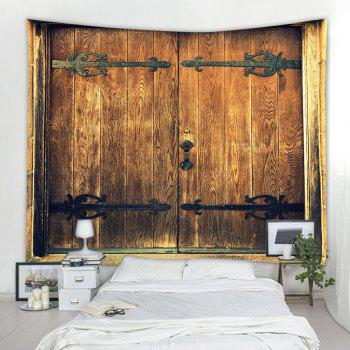 Antique Hipster Door 3D Printing Home Wall Hanging Tapestry for Decoration - multicolor W230CMXL180CM