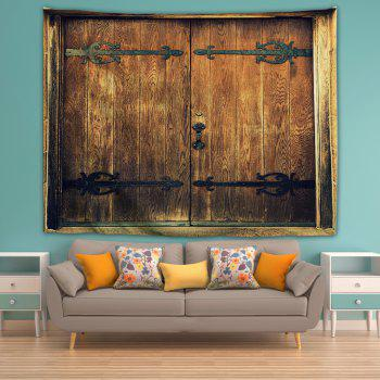 Antique Hipster Door 3D Printing Home Wall Hanging Tapestry for Decoration - multicolor W153CMXL130CM