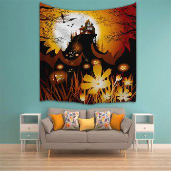 Pumpkin Cluster 3D Printing Home Wall Hanging Tapestry for Decoration - multicolor W200CMXL180CM