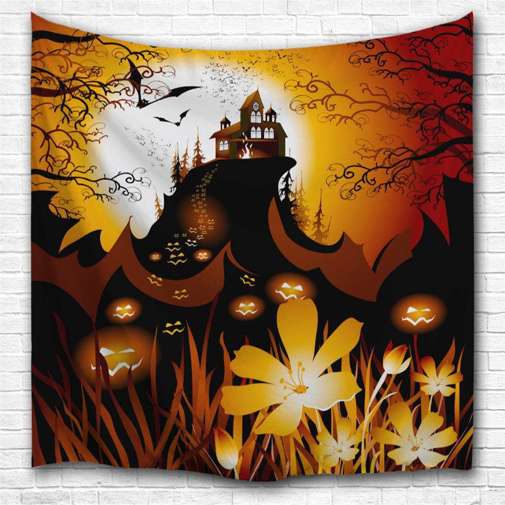 Pumpkin Cluster 3D Printing Home Wall Hanging Tapestry for Decoration - multicolor W153CMXL130CM