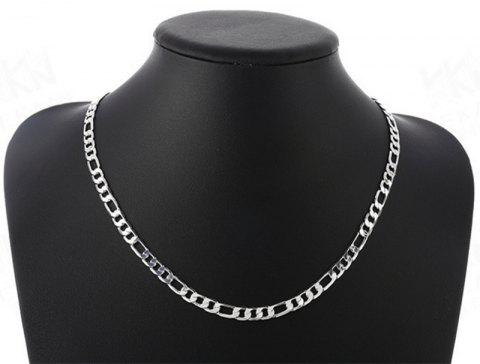 Collier Figaro Side Side pression nk - Argent