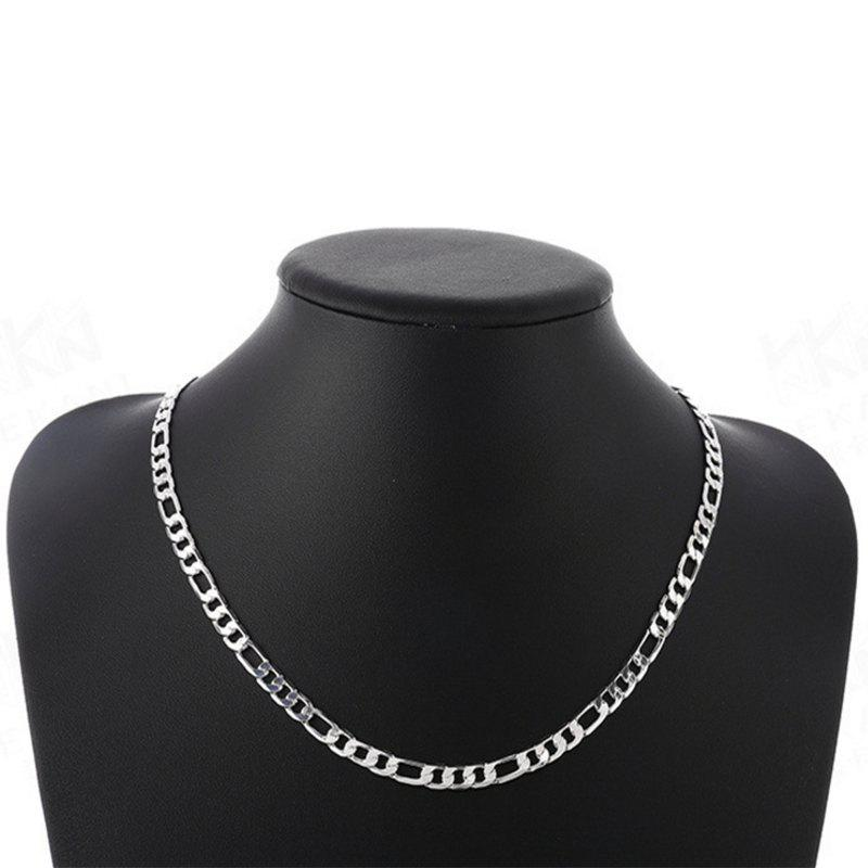 Fashion Side Pressure nk Figaro Necklace - SILVER