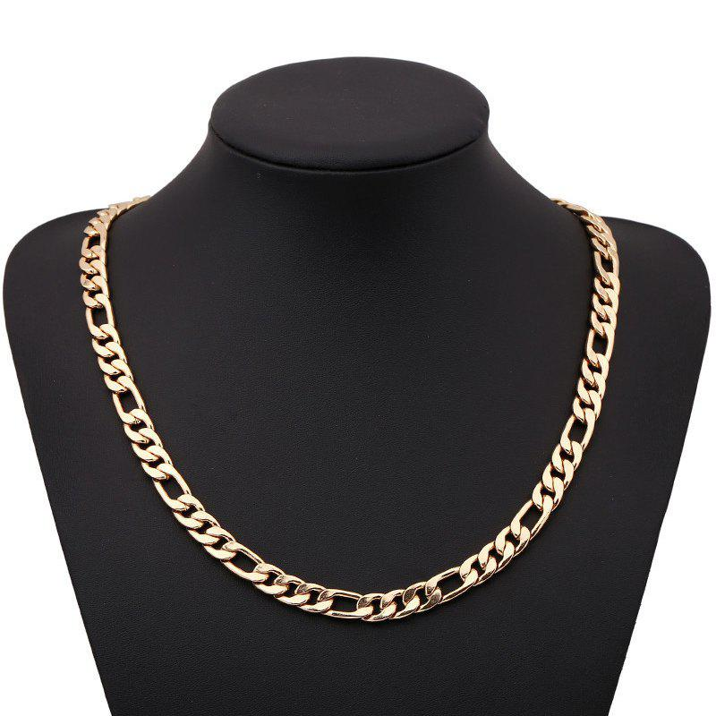 Fashion Side Pressure nk Figaro Necklace - GOLD