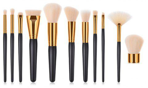 Branches Wooden Handle Golden Pipe High End Make Up Brush 11pcs