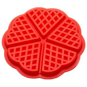 5 Loving Silicone Mold Waffles Cake Mold - RED