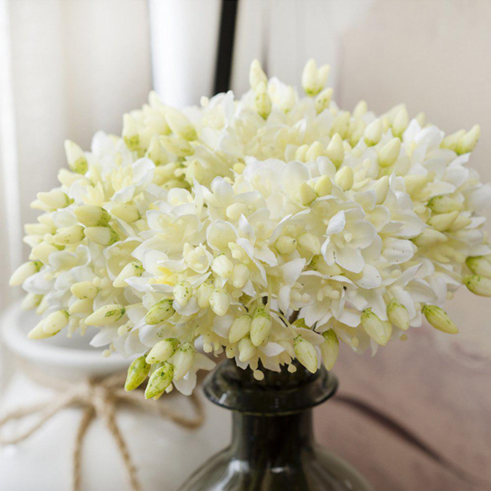 Bella Anna Small Hydrangea High-end Simulation Plant - WARM WHITE