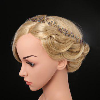 Bride Fashion Headdress Hand Inlaid Crystal Hair Band - TRANSPARENT