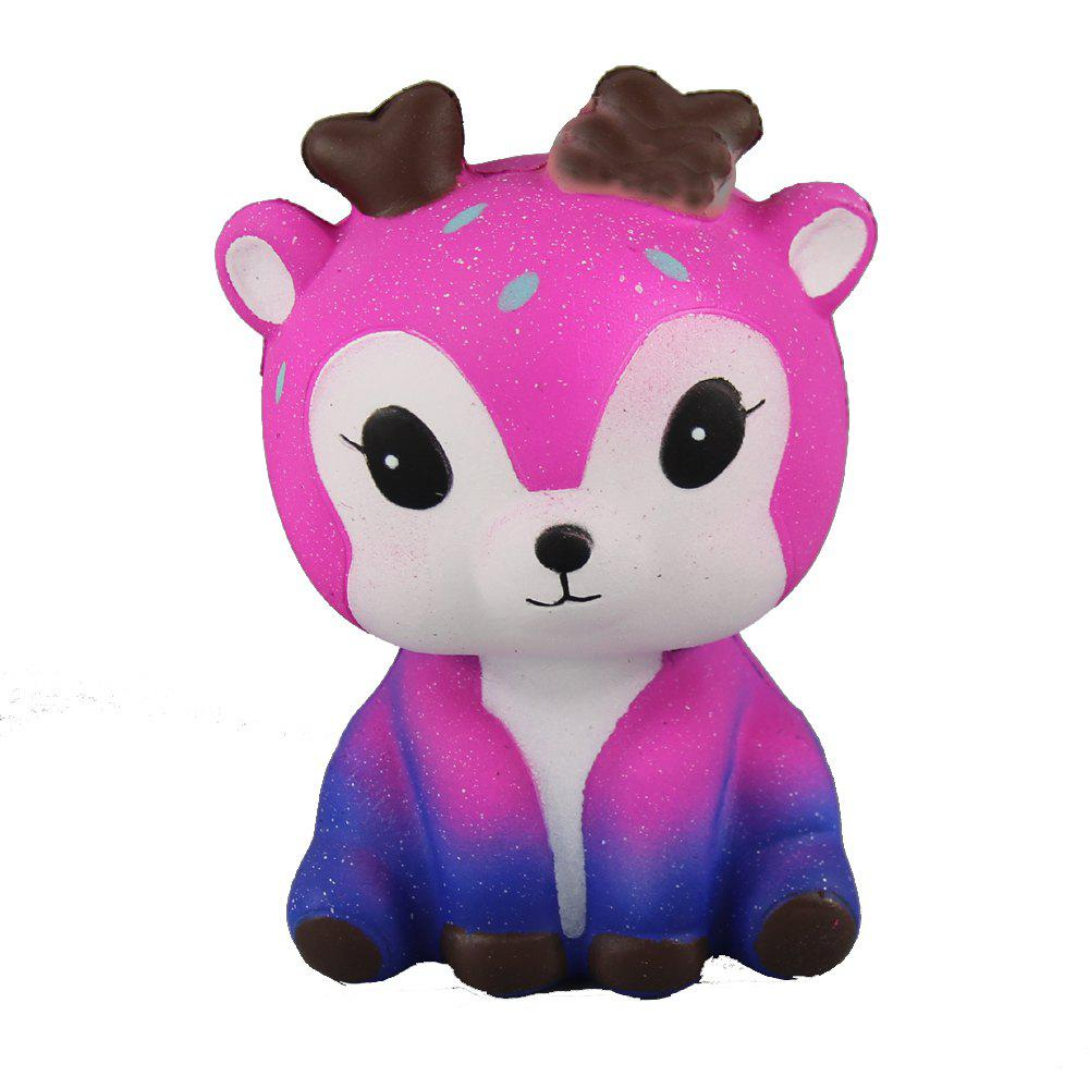 Jumbo Squishy Pink Starry Deer Toys - TYRIAN PURPLE