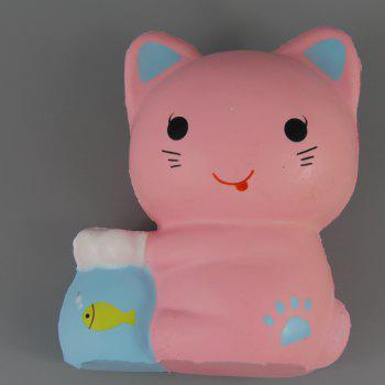 Jumbo Squishy Kittens and Fish Tanks Toys - MISTY ROSE